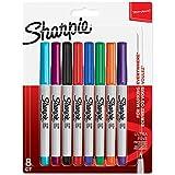 Sharpie–Juego de rotuladores permanentes, Ultra-Fine punta, color varios colores 8 unidades