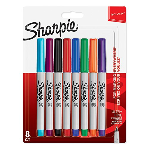 sharpie-permanent-markers-ultra-fine-tip-assorted-colours-pack-of-8