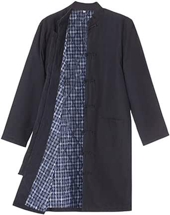 Winter Cotton Tang Suit Windbreaker Men Thick Warm Tai Chi Uniform Long Sleeve Chinese Traditional Clothes Tops,Hanfu Jacket Kung Fu Clothing Shirt Coat