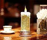 HAPPYMOOD Weihnachten Licht Kerze Weihnachten Geburtstag Geschenk USB Batterie Dekoration Romantisch Fee Schreibtisch Tabelle Lampen Innen und Draussen Benutzen