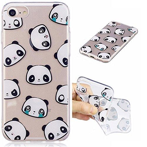 Ooboom® iPhone 6S/6 Hülle Transparent TPU Silikon Ultra Dünn Durchsichtig Schutzhülle Handy Tasche Case Backcover für iPhone 6S/6 - Koala Panda