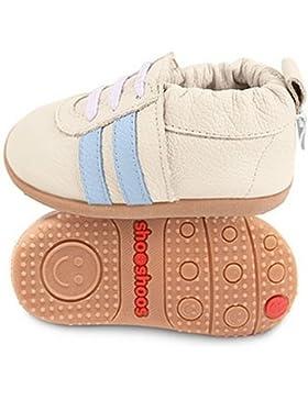 ShooShoos - Zapatitos de piel suela dura, deportivas crema