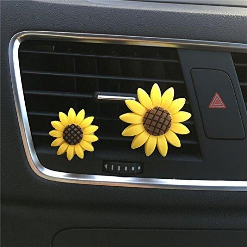 Deodorante per auto Vent clip, Sansee auto Multiflora girasole clip di uscita aria profumo profumato deodorante diffuso