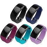 OenFoto kompatibel Gear Fit 2 Pro/Fit 2 Armband, Zubehör Ersatzgurt aus Silikon für Samsung Gear Fit 2 Pro SM-R365 und Gear Fit 2 SM-R360 Smartwatch -5er-Pack