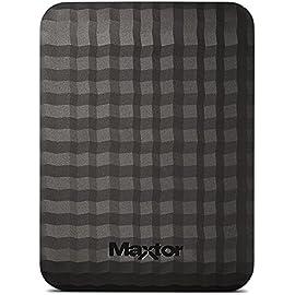 Maxtor M3 HDD Esterno da 500GB, 2,5'', Nero/Antracite