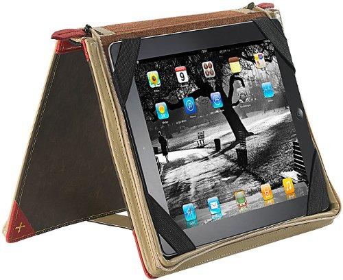 Xcase Tablethüllen: Elegante Schutztasche im Buch-Design für iPad & TOUCHLET (Tablettaschen)
