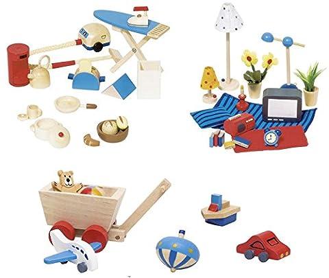 Goki Accessoires für Wohnzimmer, Küche und Kinderzimmer, 43-teilig, im Set