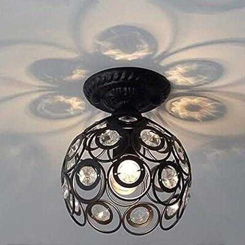 Hoobor House luci a soffitto Ghisa K9 il soffitto di cristallo luce Ac85-265V i corridoi nella luce Balcone Cucina leggera,
