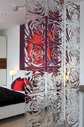 koziol Raumteiler  Romance,  Kunststoff, transparent rot, 0.4 x 26.9 x 27 cm,4er Set - 2