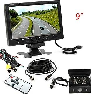 18-LED-Auto-Rckfahrkamera-4-Pin-9LCD-Monitor-Nachtsicht-Rckfahrkamera-fr-Schrgheck-SUV-LKW-Van-MPV-Cargo-Van