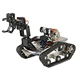 Goolsky TH Roboter Wifi Smart DIY Crawler RC Roboter Tank mit Manipulator 480 P Kamera PC Handy Control