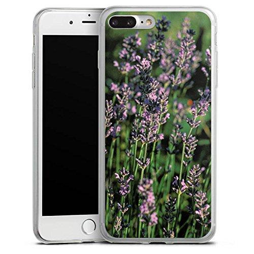 Apple iPhone X Slim Case Silikon Hülle Schutzhülle Lavendel Blumen Natur Silikon Slim Case transparent