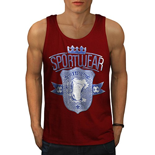 beer-football-team-sports-wear-men-red-l-tank-top-wellcoda