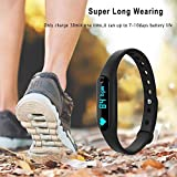 #10: 3Keys Smart Bracelet Heart Rate Monitor Smartband Sport Pedometer Wristband Watch Fitness Tracker For iPhone Samsung IOS Android Smart Phones (Color May Vary)