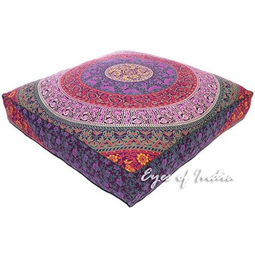 """Eyes of India - 35\"""" Übergroß Groß Quadratisch Boden Kissenbezug Hocker Mandala Hippie Bunt Dekorativ Böhmisches Indian Boho Hundebett Abdeckung - dunkelblau #1, 35 X 35 in.(88 X 88 cm)"""