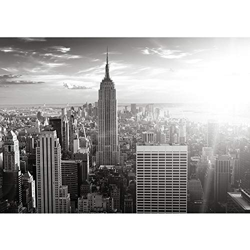 Vlies Fototapete 300x210 cm PREMIUM PLUS Wand Foto Tapete Wand Bild Vliestapete - MANHATTAN SKYLINE - New York City USA Amerika Empire State Building Big Apple - no. 0015