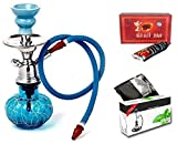 #10: JaipurCrafts Premium Combo Of 12 Inch Glass, Iron Hookah, 10 Hookah Charcoal Disk And Premium Hookah Flavour