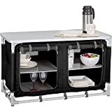 Küchenbox Berger Camping Sideboard, Alu, schwarz/grau, geringes Gewicht, Maße B 97 x H 56,5 x T 48 cm, Aufbau-Schrank