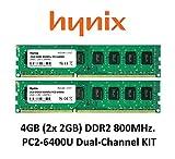 Hynix 4GB Dual Channel kit (2X 2GB) DDR2800MHz PC2-6400(240Pin) PC RAM Memory 3rd DIMM