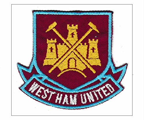 Patch West Ham United Football Club Wappen cm 8 x 7,5 Aufnäher Stickerei Replica -738 West Ham United Football Club