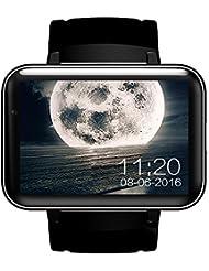Smart Watch Ranipobo tout-en-un, WiFi 3G, téléphone portable, moniteur de fréquence cardiaque pendant l'exercice, moniteur d'activité physique Dual Core avec caméra, GPS, Google Map, emplacement pour carte SIM, bracelet et écran 2.2'', pour Android