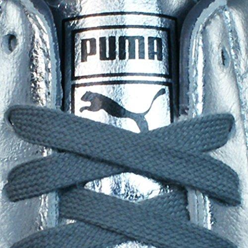 Puma Barnett Vintage Met Damenlederturnschuhe / Schuhe Silber