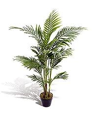 Idea Regalo - Best Artificial, palma Areca tropicale finta, alta 120 cm, per interni ed esterni
