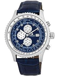 Burgmeister Armbanduhr für Herren mit Analog-Anzeige, Chronograph und Lederarmband - Wasserdichte Herrenarmbanduhr mit zeitlosem, schickem Design - klassische Uhr für Männer - BM320-133 Savannah