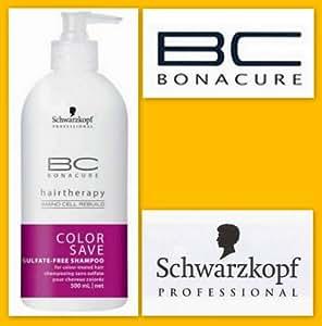 Schwarzkopf Professional Shampooing Couleur sans Sulfate pour Cheveux Colorés Color Save Hairtherapy BC à l'Amino Cell Rebuild 500ml