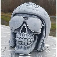*Totenkopf-Kollektion* Stein-Figur Biker für Motorrad