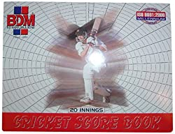 BDM Cricket Score Book,