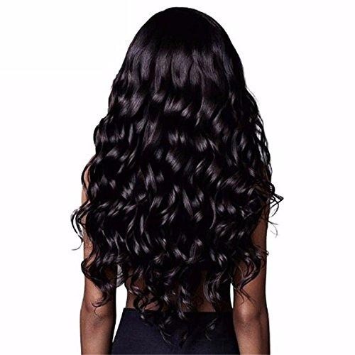 2Pig nose Schwarze Perücke der Lockigen Haare der Großen Welle, Hochtemperaturseide Cosplay Parteiperücke (Trägt Ein Kostüm Perücke)