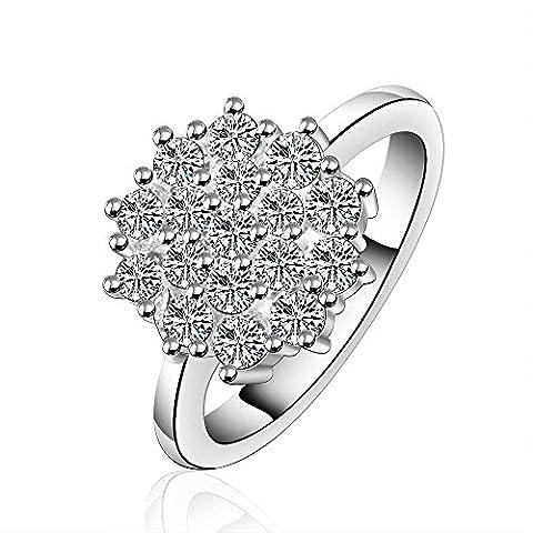 YAYA Argenté Pour Dame Conception Doigt Ring ,argent,8 - Pietra E Chiave Collana