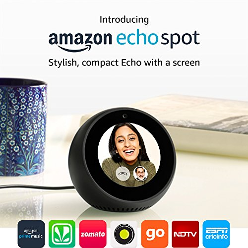 Echo Spot - Stylish echo with a screen, make video calls, Voice control your music, news, weather & more 2