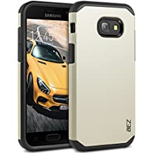 Samsung Galaxy A3 2017 Case, BEZ® Shockproof Case Cover, Shock Absorbing Case Best Heavy Duty Dual Layer Tough Cover for Samsung Galaxy A3 2017 - Gold