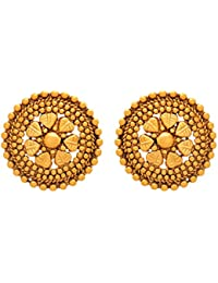 Meenaz Fashion Jewellery Traditional Gold Plated Pearl Crystal Earrings For Womens Party Wear Stylish Designer...