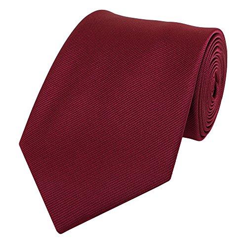 Fabio farini cravatta uomo 8 cm classica fatta a mano per il lavoro, rosso