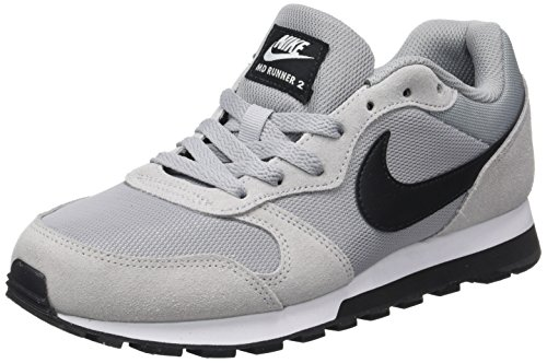 Nike MD Runner 2, Zapatillas Hombre, Wolf Grey/Black-White