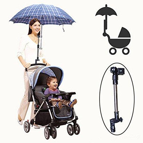 SADA72 Regenschirmhalter Halterung Connecto, verstellbar, für Reisen, Kinderwagen, Golf, Buggy, Regenschirm, Ständer für Rollstuhl, Regenschirmständer -