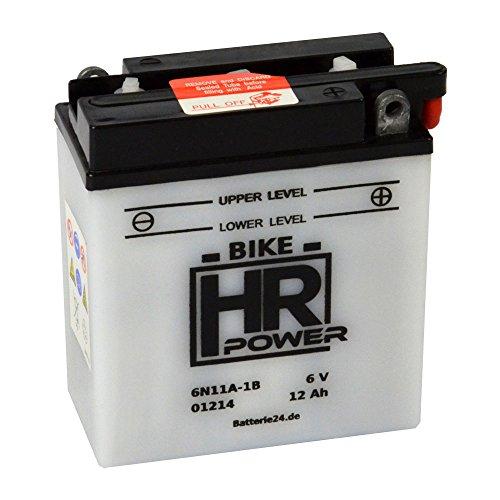 Motorrad Batterie Starterbatterie 6V 12Ah 6N11A-1B 01214