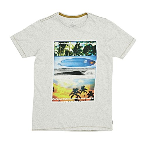 Quiksilver placetobeyouth b tees wbkh, t-shirt ragazzo, snow white-heather, fr : m (taille fabricant : m/12)