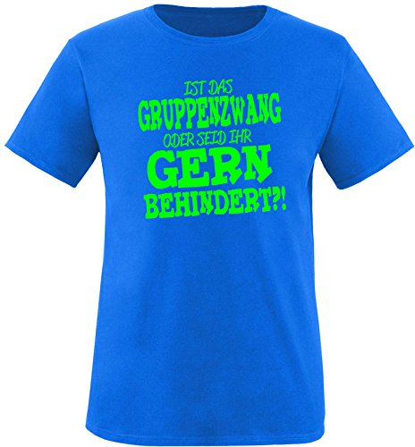 EZYshirt® Ist das Gruppenzwang oder seid ihr gern behindert Herren Rundhals T-Shirt Royal/Neongrün