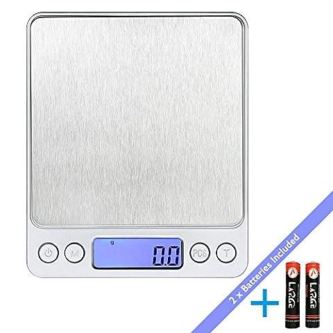 Balance Scale - LaTEC Balance de cuisine numérique (3000g, 0.01oz/