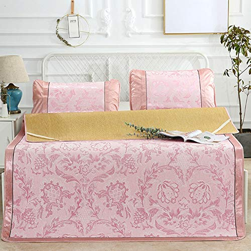 J Home textile 3 stück Sommer Kühlung Blatt Kissenbezug Sets, Matratze und Schlafsack Topper, Twin, Voll, Königin, King Siz- Jacquard (Kühlung Matratze Königin)