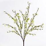artplants Set 3 x Deko Kirschblütenzweige, Creme-weiß, 65 cm, Ø 35 cm - Künstlicher Zweig/Kunstblumen