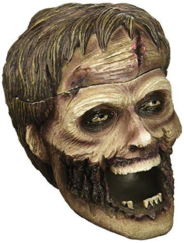 Evil Undead Zombie cabeza Estatua cenicero tapa Spooky
