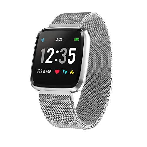 StayUp Fitness Smartwatch für iOS/Android mit Aktivitätstracker, Pulsmesser, Schrittzähler, Wasserdicht IP67, Benachrichtigungen Whatsapp, Anruf etc.