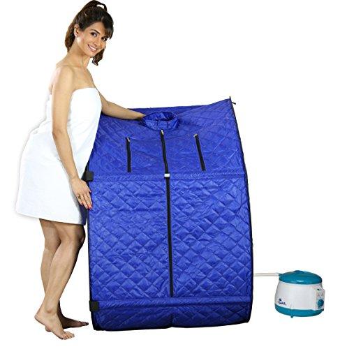 Kawachi Portable Steam Sauna Bath Panchkarma Swedan Machine for Health and Beauty Spa at Home (Blue)