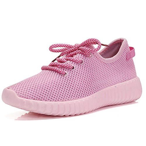 NAN Femmes Chaussures Printemps et d'été Version coréenne Fond Plat Chaussures de Sport Noir Gris Rose Trois Couleurs Respirant Chaussures Simples Loisirs série Chaussures de Course Net Chaussures