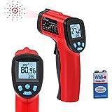 Thermomètre Infrarouge RAGU H01 Pistolet thermomètre laser infrarouge digital sans contact -50°C~380°C (-58°F~716°F) avec la technologie ajustable Émissivité, rouge/noir